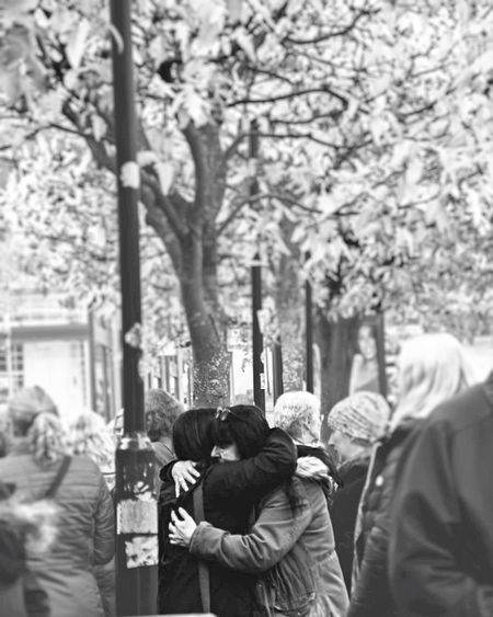Love. Tree Real People Rear View Men Tree Trunk Day Outdoors Women Lifestyles Togetherness Nature People Adult Adults Only EyeEmNewHere Blackandwhite
