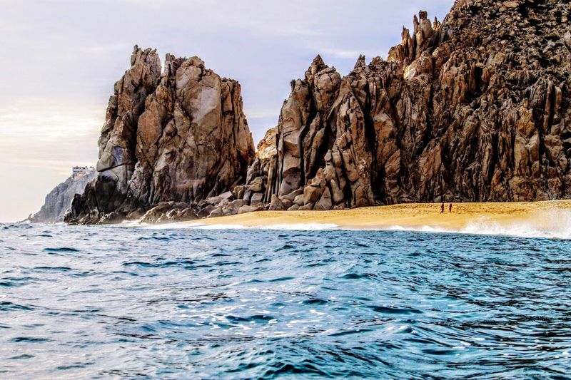 Sea Nature No People Outdoors Day Beauty In Nature Global Warming Rock Formation Sand Lovers Beach Cabo San Lucas Waves, Ocean, Nature Water Pacific Ocean Ocean Isolation Sand & Sea Peaceful Tranquility Travel Destinations Cabo Mexico Selected For Premium. Selected For Premium
