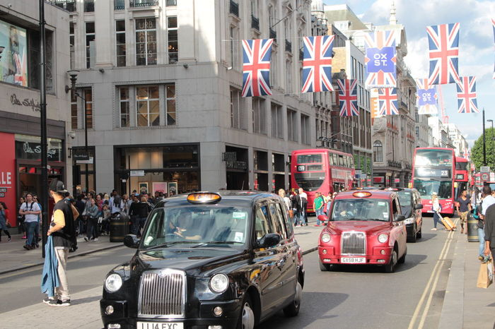Black Cab Cab City City Life City Street Flag No Edit No Filter, No Edit, Just Photography Oxford Street  Red Double Decker Bus Shopping Shopping Street Taxi Traffic Uk Canon 700D 18-55mm