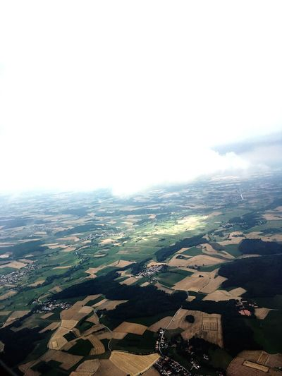 Agriculture Patchwork Landscape Farm Landscape Field Flight From An Airplane Window