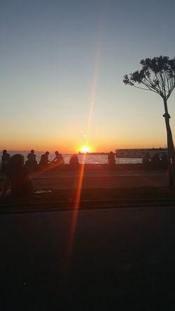 Kordon Izmirlife Izmirkordon Bira Keyfi Relaxing Sunset Sunset_collection Enjoying Life Agean Sea Photography Coastline Sky Sky And City