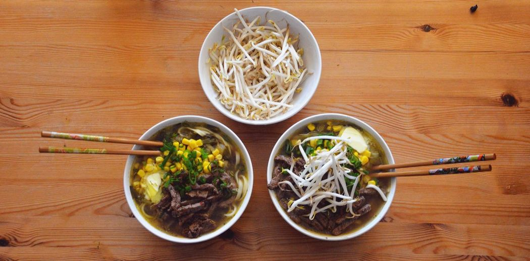 Above Food No People Bowl Indoor Healthy Eating Table Top Ready To Eat Noodles Noodle Soup Ramen Noodle Taugeh Traveling Wood Table Tabletop Hardwood