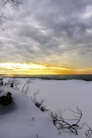 Sunset over Lake Superior, Ahmeek, MI