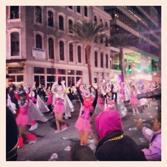 NOLA Muses Parade Mardigras 2014 New Orleans party cameltoeladysteppers marching magic