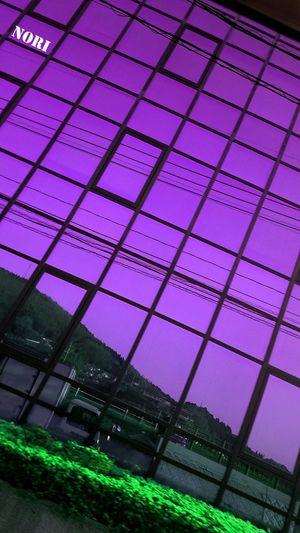 お疲れさま☺明日まで頑張りますo(^o^)oDark Pink By Motorola Reflection Reflection_collection Window Reflections My Work Landscape EyeEm Nature Lover *CHIE* Kagoshima Window View