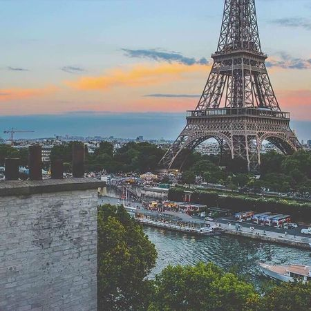 Architecture Bridge - Man Made Structure City Sky Travel Destinations River Tower Built Structure Connection Outdoors Cultures History Cityscape Tree Sunset Riverbank No People Water Day Paris