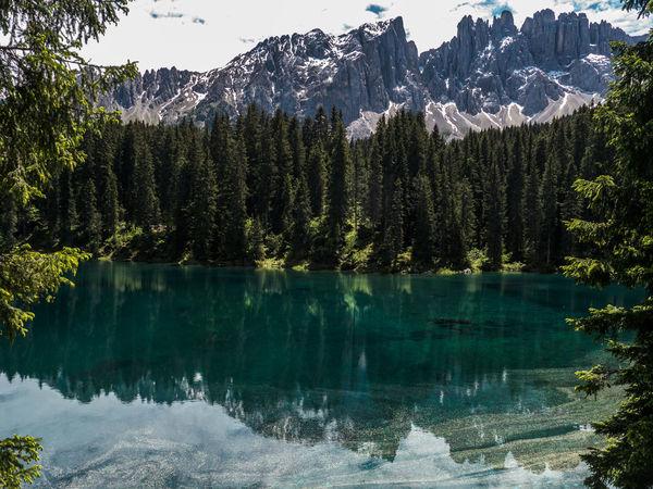 Alto Adige Beauty In Nature Lago Di Carezza Dolomites, Italy Idyllic Karersee Lake Carezza Landscape Majestic Mountain Mountain Range Nature Non Urban Scene Outdoors Reflection Lago Di Carezza Trentino Dolomiti WelschnofenTranquility Travel Destinations Nova LevanteTree The Great Outdoors - 2017 EyeEm Awards Been There.