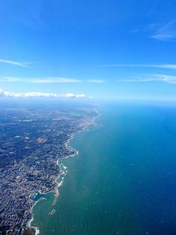 Flying High Coastline Coastline Landscape Italy Southern Italy Sea Sea And Sky
