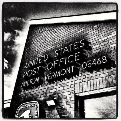 Air Mail via #MiltonVT. Miltonvt Architecture Abstract B Building Post Mail Vermont Postoffice Airmail Vt Btv Vt_scenery 802 Milton_vt