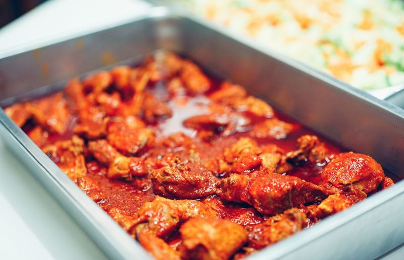 spicy chicken sambal Malaysian Food Spicy Food Sambal Chıcken Party Celebration Celebration Event Traditional Preparation  Oily Food Close-up Food And Drink Served Serving Size Temptation