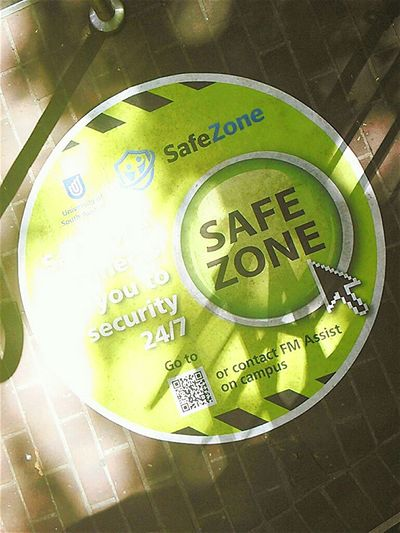 Safe Zone Sidewalk Signs Taking Pictures SignStreet Signs Taking Photos Footpath Pavement Streetphotography