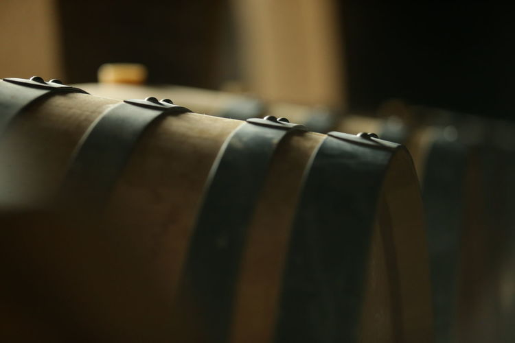 cellar with wooden barrels to store wine, beer, rum, whiskey Agriculture Beer Alcoholic Drink Barrels Cellar Viniculture Whiskey Wine Wood - Material