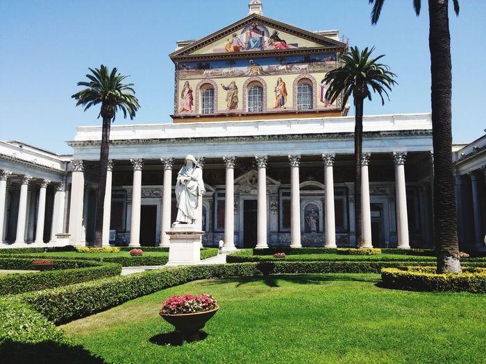 Rome Italy Architecture History Religion City Church Roma Clear Sky