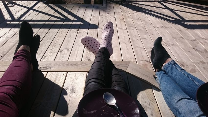 Relaxing Relaxing Time Relaxing In The Sun Springtime Spring Feet Legs Socks Relaxing Together On The Porch Enjoying The Sun Sunny Day Spring In Sweden Friends No Faces