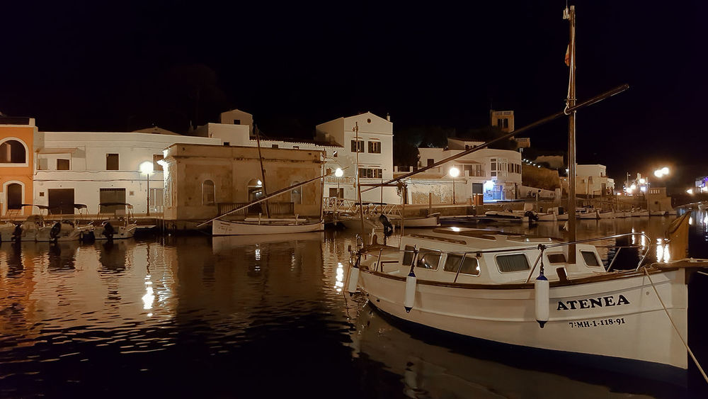 At Night Boat Fisherboats  Harbour Night No People Pieceful Evening Travel Destinations Water