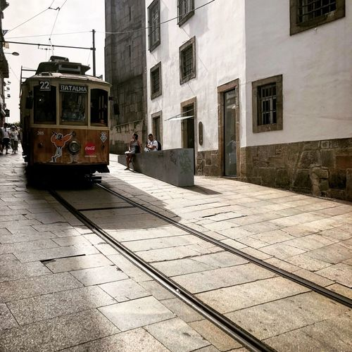 Porto Building Exterior Built Structure Architecture Rail Transportation Railroad Track Track Mode Of Transportation Transportation Land Vehicle Public Transportation Building Cable Car City Train Street No People Snow Nature Train - Vehicle Day