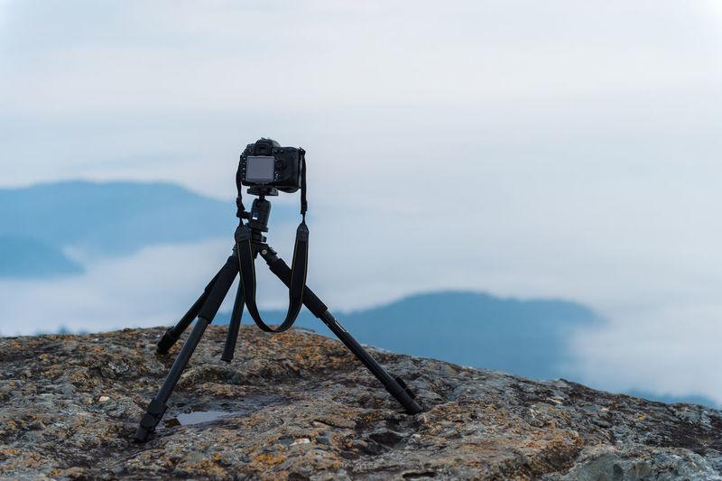 Camera against sky
