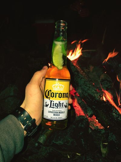 43 Golden Moments Corona And Lime Corona Beer Camping Camping Outdoors Outdoors Campfire Fire Adventure