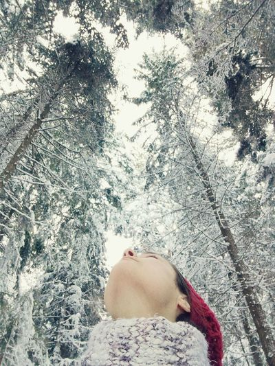 Breathing The White Snow ❄ With My Red Hat