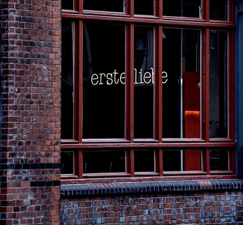 Window Brick Wall Architecture Text Built Structure Outdoors Building Exterior Day Red No People Streetphotography Streetshot Street Photography Travel City Hamburg Windows Window View