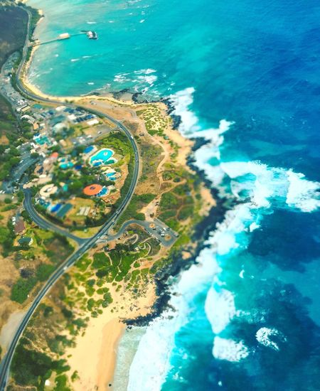Aerial View Sea Water Outdoors No People Day High Angle View Waterfront Landscape Beach Nature Beauty In Nature Scenics Airplane Horizon Over Water Flying Tree From Above  Nature Helicopter Hawaii Honolulu