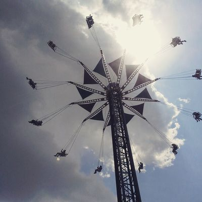Got Sarah to ride these super high flying swings at Kentucky Kingdom KentuckyKingdom Skycatcher