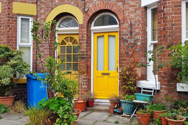 Lark Lane Liverpool Terraced Houses Lark Lane Door Yellow Architecture Building Exterior Built Structure Closed Door Front Door Window Box Closed Arch Entryway Doorway Doorknob Door Handle Open Door