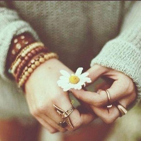Flowers Hand Hello World Nature