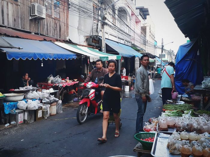 Just fresh food market in the morning in Thailand. Fresh Food Market Market Architecture Market Stall