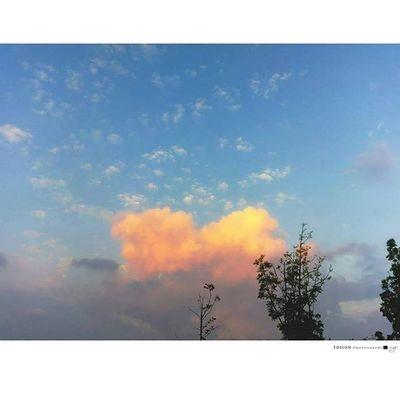 【 Love Cloud 】 世界因你而更美好 大家都是看到火燒雲 我卻看到愛心雲...... LGG4 Cloud 365Snap Love