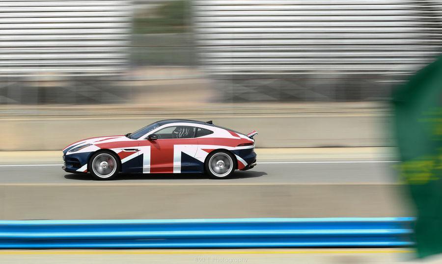 JAGUAR Laguna Seca Rolex Rolex Monterey Motorsports Reunion Englishstyle Ftype Pacecar Racecar