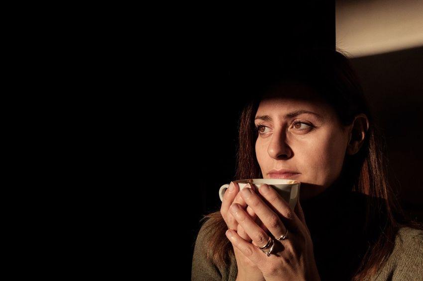 The City Light One Woman Only Beauty Portrait X100t Fujifilm Fuji Coffee Coffeshop Light And Shadow Light Shadow