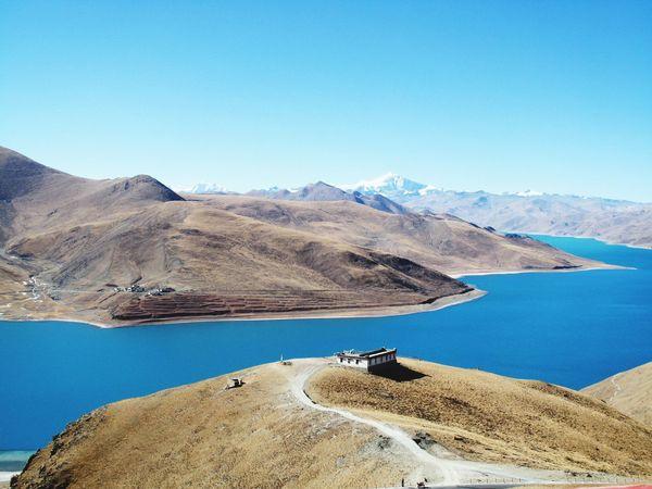 Tibet YamdrokTso ..pics I took ten years ago...羊卓雍错 西藏 Tibet Landscape Taking Photos EyeEm OpenEdit Chinese China Beauty EyeEm Gallery