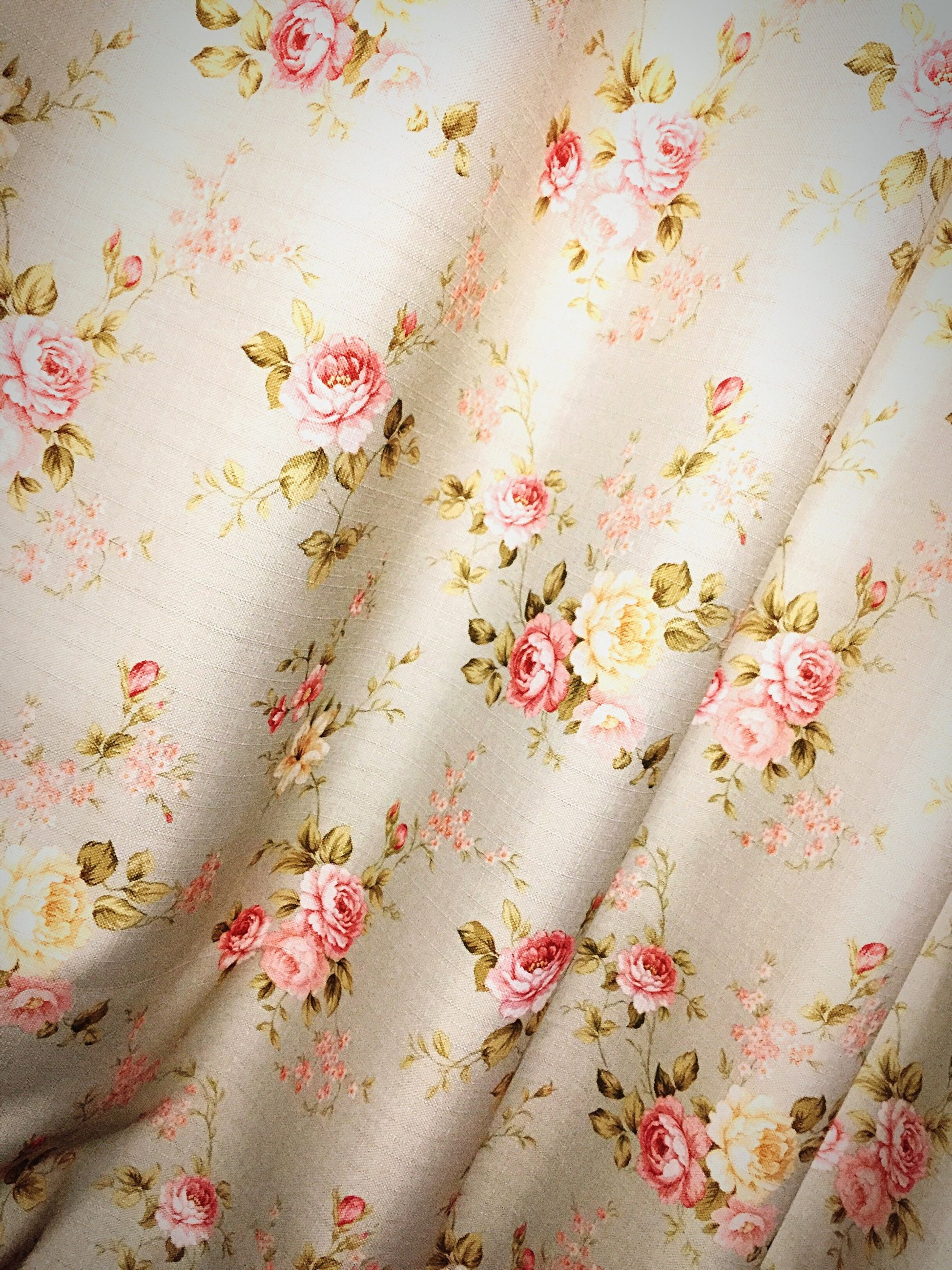 indoors, wall - building feature, floral pattern, high angle view, textile, pattern, pink color, home interior, full frame, ceiling, design, wall, textured, fabric, no people, backgrounds, creativity, close-up, decoration, multi colored