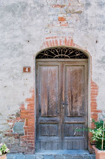Tuscany Italy Tuscany Filmphotography Entrance Door Architecture Built Structure Building Exterior Closed No People Wall - Building Feature