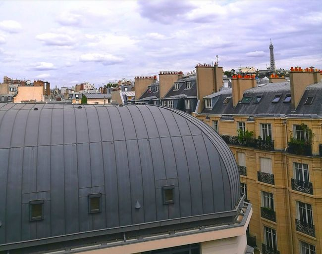 Paris Roofs Paris Rooftops Architecture Outdoors Sky Building Exterior Eiffel Tower Paris, France  Architecture Paris ❤ Huaweiphotography