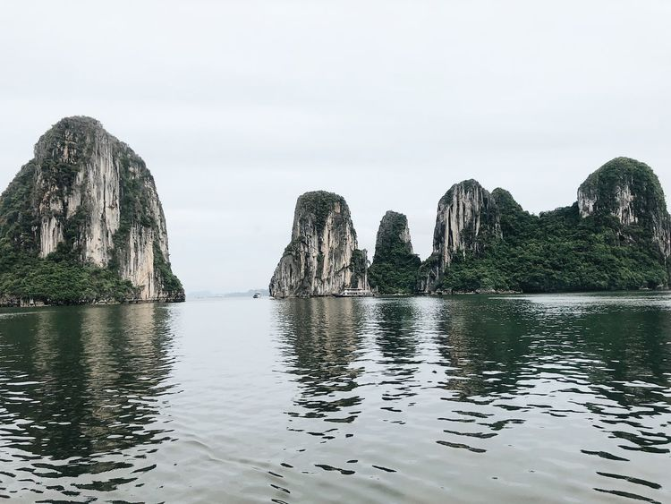 Nature's art Hanoi UNESCO World Heritage Site Sea And Sky Sea Travel Destinations Travel Vietnam Halong Bay Vietnam Water Sky Waterfront No People Nature Beauty In Nature Tranquility Day Scenics - Nature Clear Sky Reflection Non-urban Scene Outdoors Idyllic Tranquil Scene