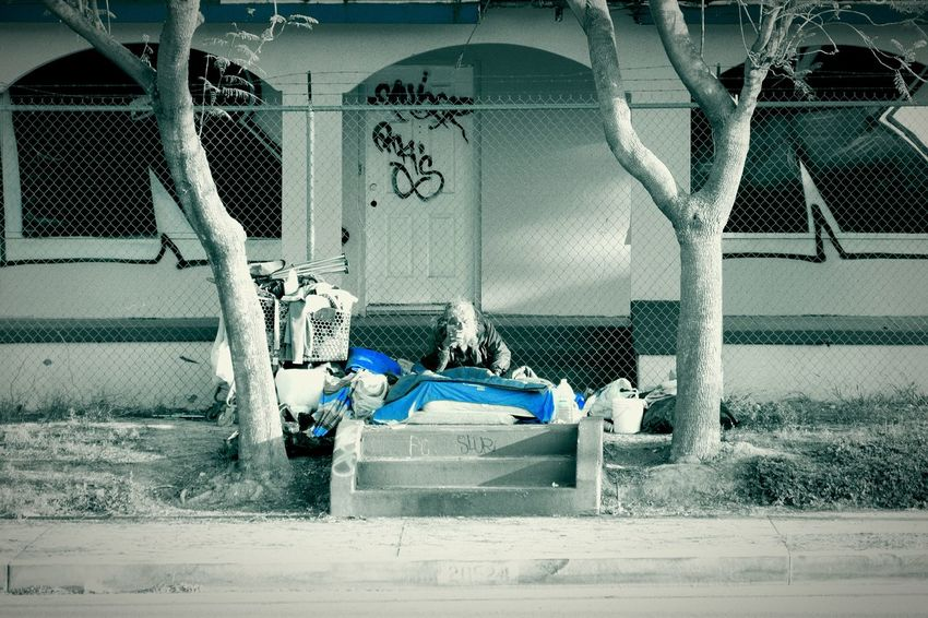 feelin blue. Blue Blackandwhite Black & White Homeless Losangeles Poster Lumix