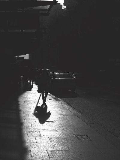 Alone on this wild journey People Watching Osanpo Camera Sydney Local Blackandwhite Urban Geometry City Real People Street One Person Transportation Full Length Sunlight Walking Men Architecture Silhouette Shadow Lifestyles Day Built Structure Outdoors