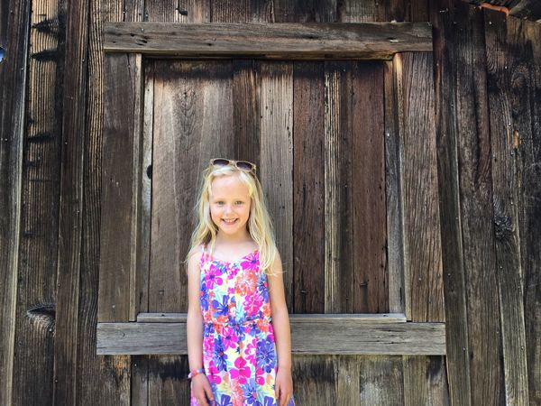Portrait Girl Blonde Blue Eyes Childhood Sweet Play Cupertino California United States