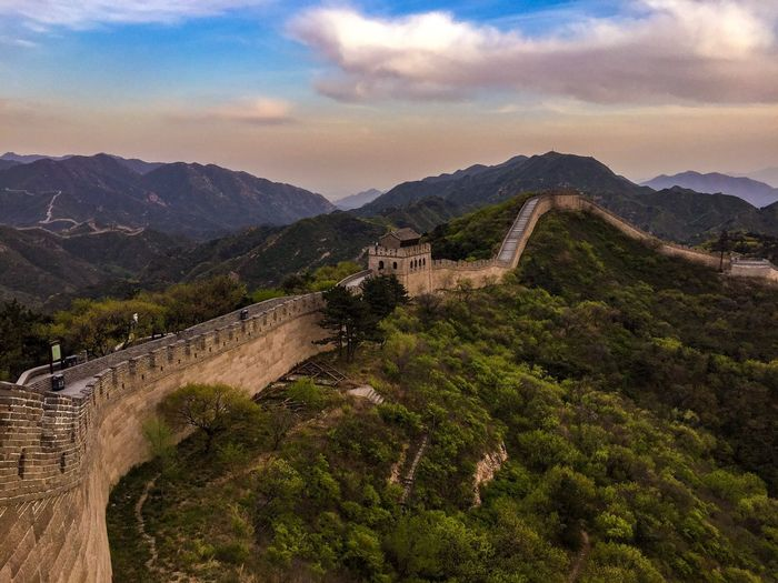Great Wall of China Architecture Nature Landscape Sky No People Beauty In Nature Outdoors Built Structure Scenics