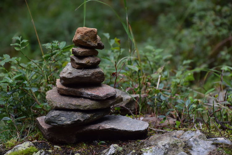 stone tower (relaxation) Balance Beauty In Nature Close-up Day Grass Many Objects Nature No People Outdoors Pile Relaxation Relaxing Slow Down Stack Stapled Stones Sunlight Tower