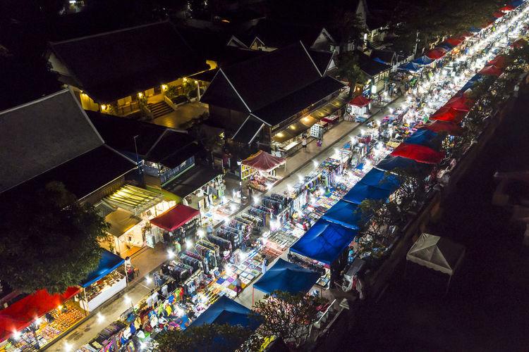 Beautiful Cityscape Drone  Louangphabang Luangprabang Market Mekong Spectacular Touristic Travel Travel Photography UNESCO World Heritage Site Drone Image Drone Photography Laos Luang Prabang Outdoors Popular Scenics Tourism Travel Destinations