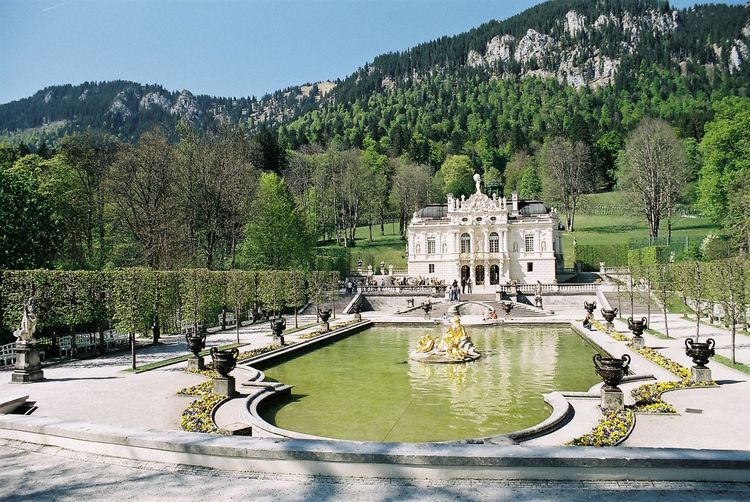 Architecture Castle Green Color Mountain Outdoors Travel Destinations Water Bavaria Germany Linderhof