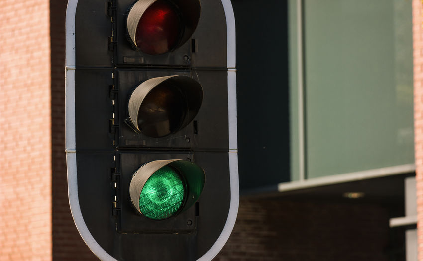 green traffic light City City Life Futuristic Go Green Light Ready Ready To Go Sign Traffic Car Communication Day Drive Green Color No People No Pepole Outdoors Pedistrian Sunny Day Symbol Technology Traffic Lights Urban