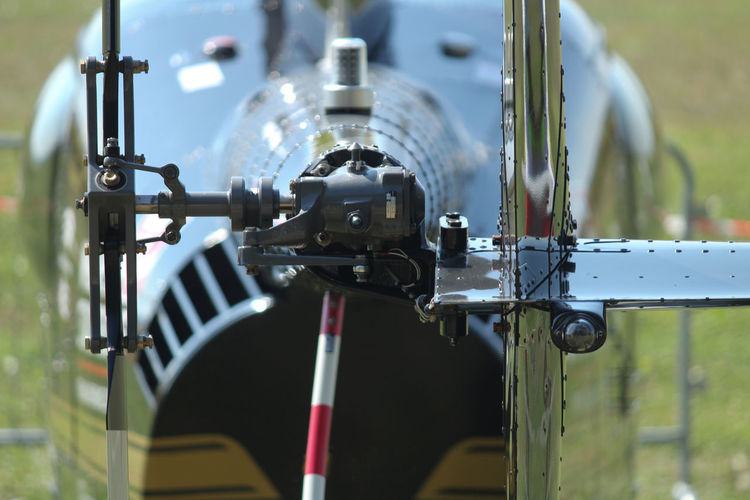 Close-up of helicopter