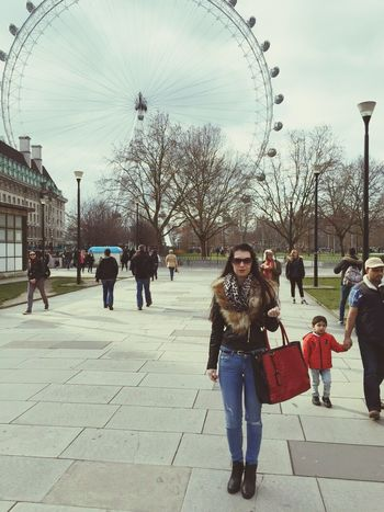 LondonEye Nice Atmosphere Happy Saturday Polisgirl Ripped Jeans Sunglasses From My Point Of View