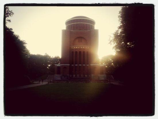 Hamburg Stadtpark Planetarium Sunset
