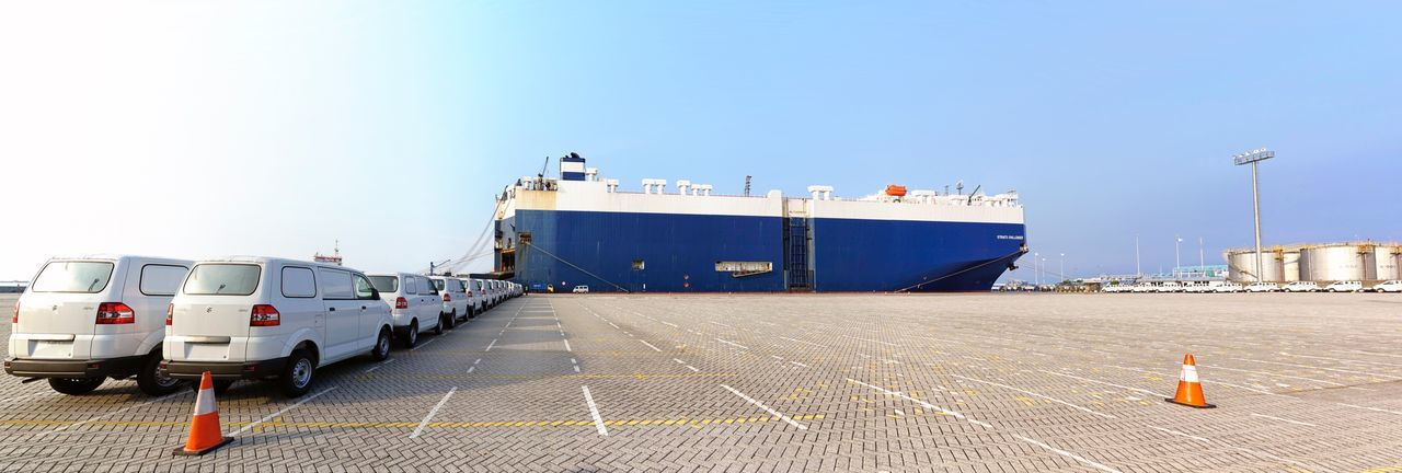 Cars Shipping at The Port of Tanjung Priok Tanjung Priok Tanjungpriok Port Transportation Nautical Vessel Mode Of Transport Day Clear Sky Outdoors Ship Shipping  Freight Transportation Sea Harbor
