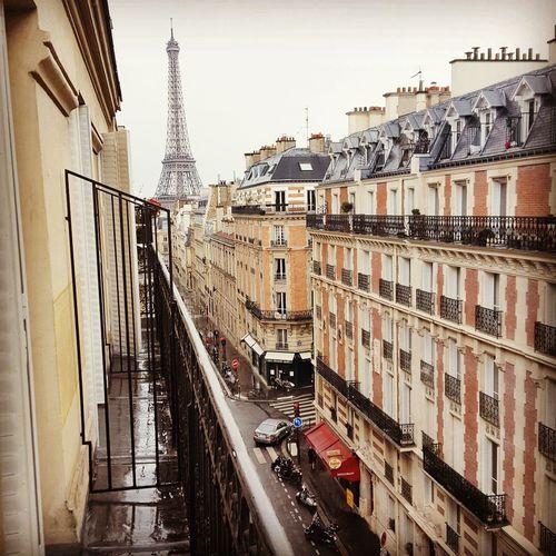 My room with a view 🙋 Paris ❤ Paris, France  Eifel Tower Juliet Balcony